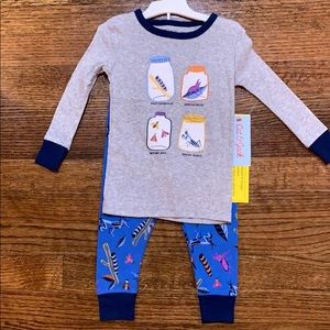 NWT Cat & Jack 2 Piece Fitted Bugs Pajama Set 18mo